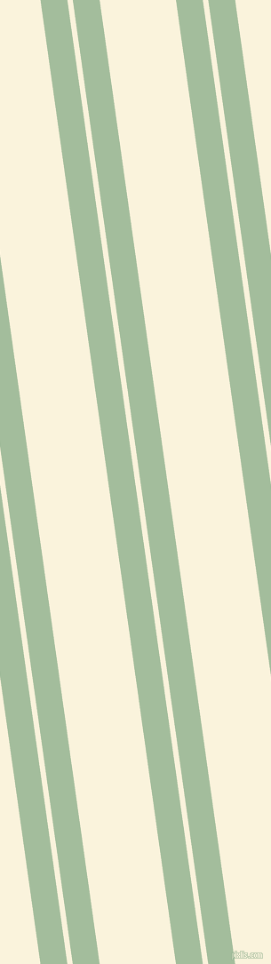 98 degree angles dual striped line, 30 pixel line width, 6 and 85 pixels line spacing, Spring Rain and Off Yellow dual two line striped seamless tileable