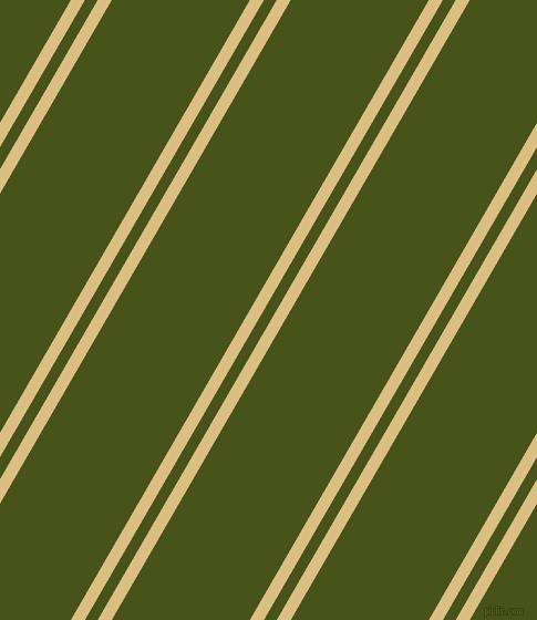 60 degree angle dual stripe lines, 11 pixel lines width, 10 and 108 pixel line spacing, Straw and Verdun Green dual two line striped seamless tileable