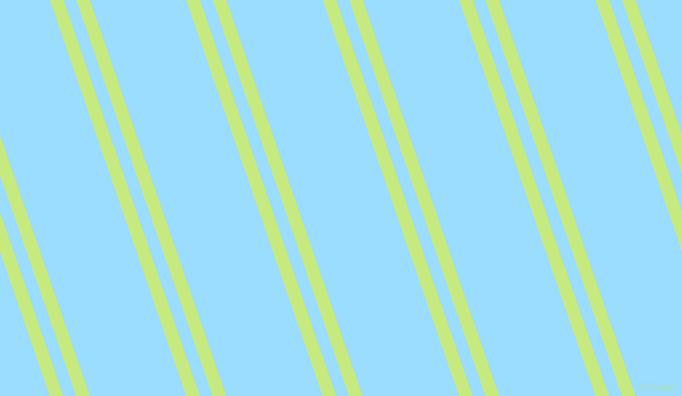 109 degree angles dual stripe lines, 13 pixel lines width, 12 and 91 pixels line spacing, Sulu and Columbia Blue dual two line striped seamless tileable