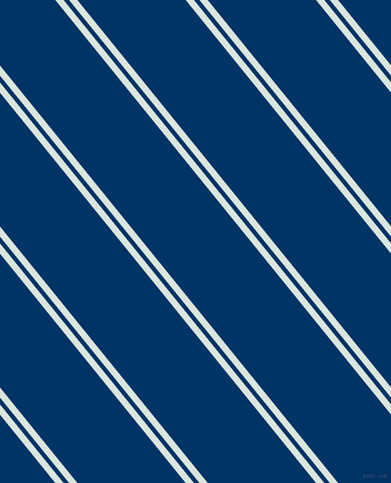129 degree angle dual striped line, 9 pixel line width, 6 and 118 pixel line spacing, Swans Down and Prussian Blue dual two line striped seamless tileable