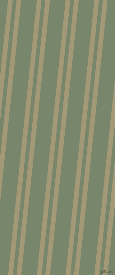 84 degree angle dual striped line, 15 pixel line width, 12 and 50 pixel line spacing, Tallow and Camouflage Green dual two line striped seamless tileable