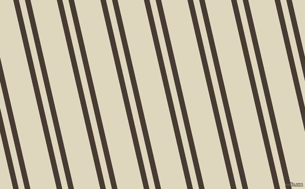 103 degree angles dual striped lines, 11 pixel lines width, 12 and 52 pixels line spacing, Taupe and Wheatfield dual two line striped seamless tileable