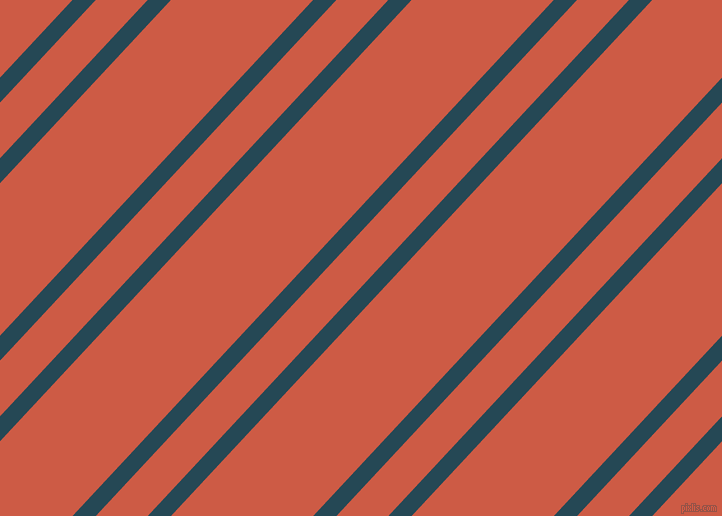 47 degree angle dual stripes line, 17 pixel line width, 38 and 104 pixel line spacing, Teal Blue and Dark Coral dual two line striped seamless tileable