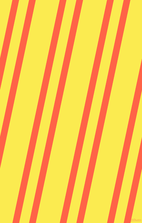 78 degree angle dual stripe lines, 23 pixel lines width, 34 and 82 pixel line spacing, Tomato and Paris Daisy dual two line striped seamless tileable