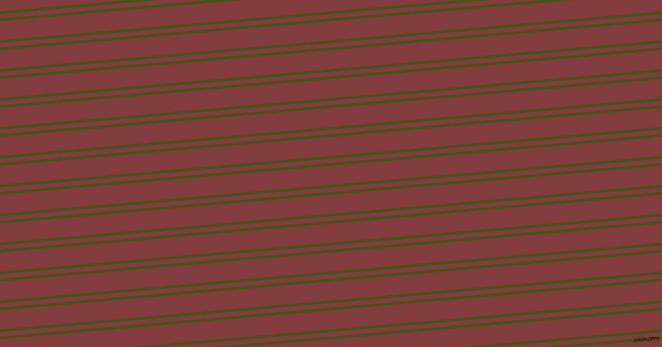 5 degree angles dual stripes line, 4 pixel line width, 6 and 27 pixels line spacing, Verdun Green and Stiletto dual two line striped seamless tileable