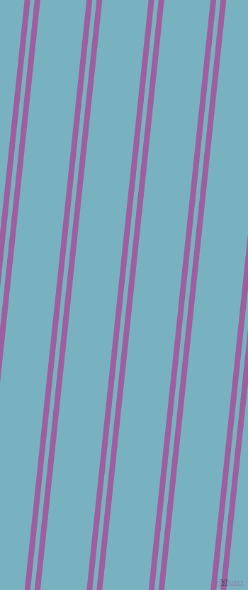84 degree angle dual striped lines, 8 pixel lines width, 6 and 65 pixel line spacing, Violet Blue and Glacier dual two line striped seamless tileable