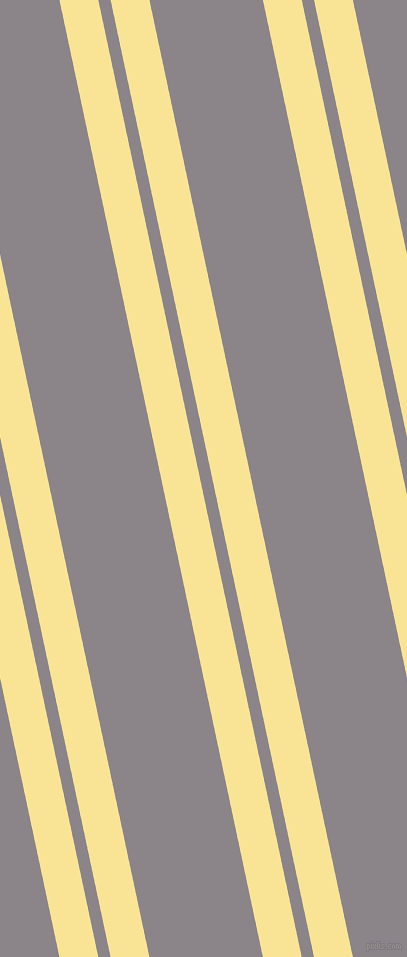 102 degree angle dual striped line, 38 pixel line width, 12 and 111 pixel line spacing, Vis Vis and Taupe Grey dual two line striped seamless tileable
