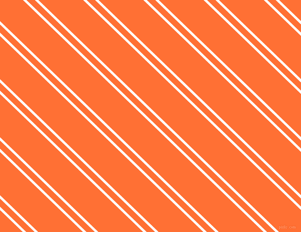 136 degree angles dual stripe line, 5 pixel line width, 12 and 64 pixels line spacing, White and Burnt Orange dual two line striped seamless tileable
