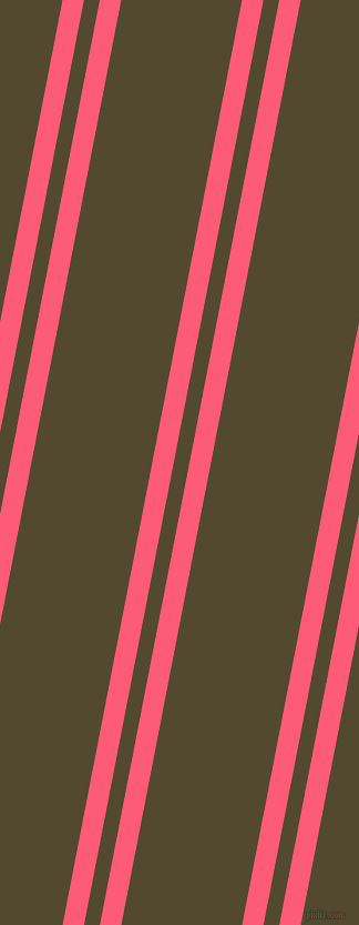 79 degree angle dual stripes line, 19 pixel line width, 14 and 107 pixel line spacing, Wild Watermelon and Punga dual two line striped seamless tileable