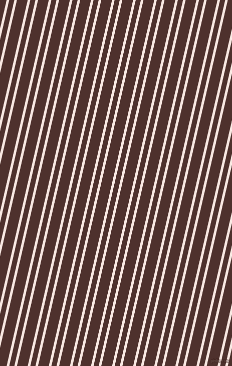 77 degree angle dual stripe lines, 5 pixel lines width, 10 and 21 pixel line spacing, Wisp Pink and Espresso dual two line striped seamless tileable