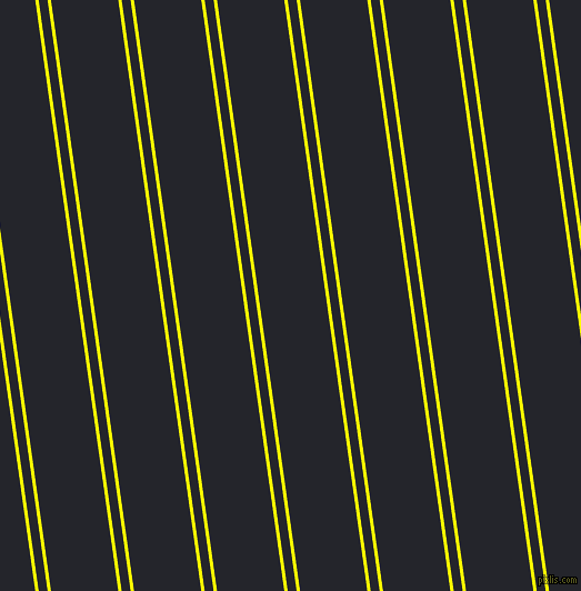98 degree angles dual stripes line, 3 pixel line width, 8 and 60 pixels line spacing, Yellow and Black Russian dual two line striped seamless tileable