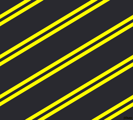 31 degree angle dual stripes lines, 15 pixel lines width, 12 and 104 pixel line spacing, Yellow and Jaguar dual two line striped seamless tileable