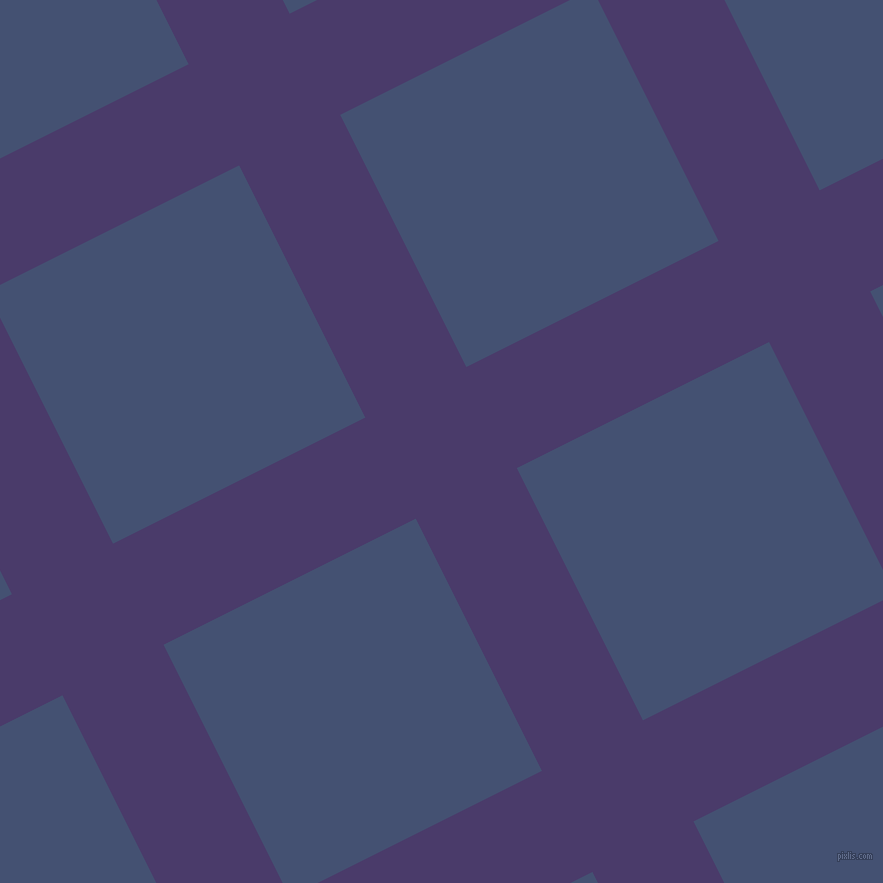 27/117 degree angle diagonal checkered chequered lines, 113 pixel line width, 282 pixel square size, plaid checkered seamless tileable