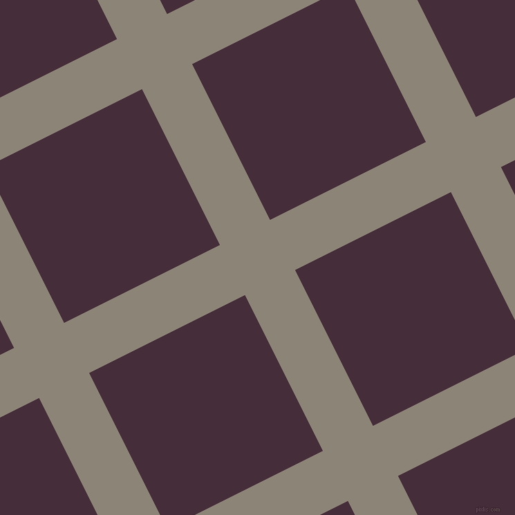 27/117 degree angle diagonal checkered chequered lines, 81 pixel lines width, 252 pixel square size, plaid checkered seamless tileable