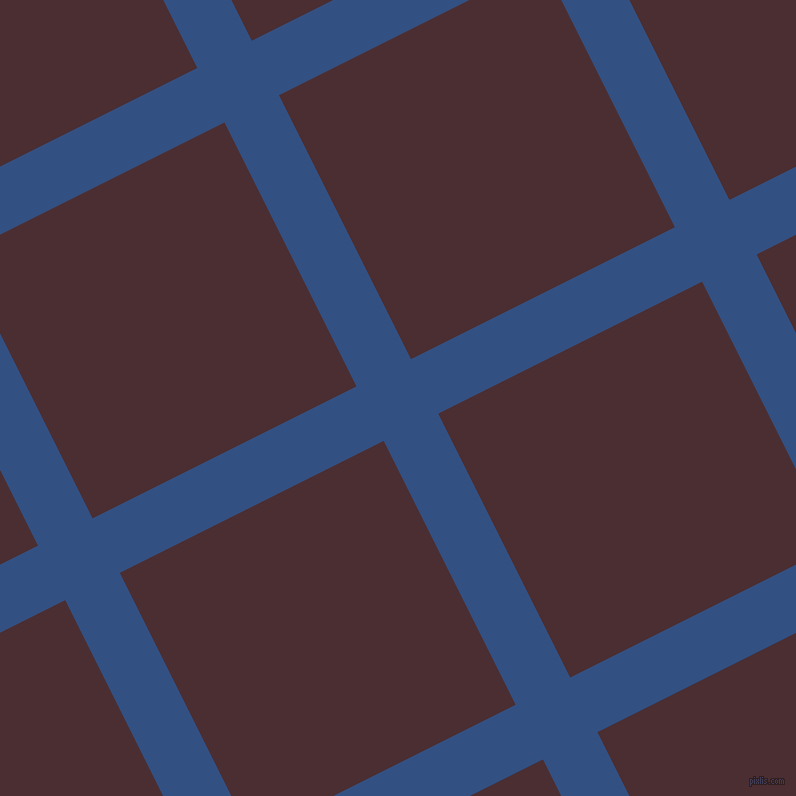 27/117 degree angle diagonal checkered chequered lines, 61 pixel lines width, 295 pixel square size, plaid checkered seamless tileable