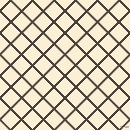 45/135 degree angle diagonal checkered chequered lines, 8 pixel lines width, 52 pixel square size, plaid checkered seamless tileable
