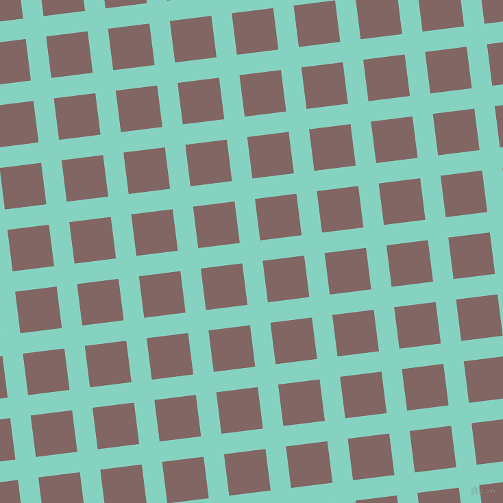 7/97 degree angle diagonal checkered chequered lines, 30 pixel lines width, 61 pixel square size, plaid checkered seamless tileable