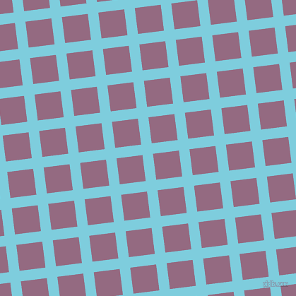 7/97 degree angle diagonal checkered chequered lines, 15 pixel lines width, 37 pixel square size, plaid checkered seamless tileable