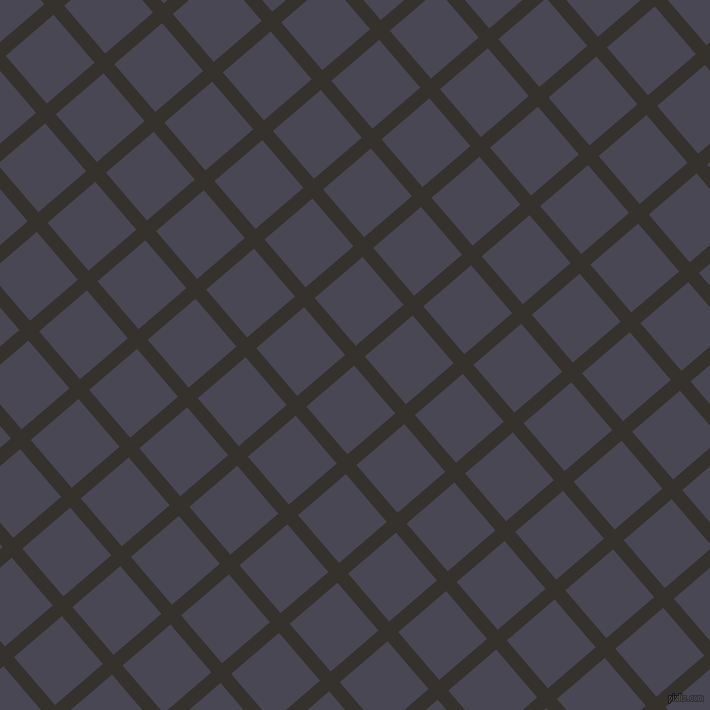 41/131 degree angle diagonal checkered chequered lines, 14 pixel line width, 63 pixel square size, Acadia and Gun Powder plaid checkered seamless tileable