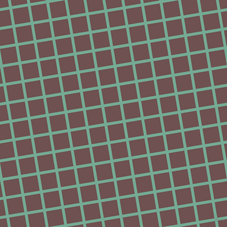 9/99 degree angle diagonal checkered chequered lines, 10 pixel line width, 55 pixel square size, Acapulco and Buccaneer plaid checkered seamless tileable