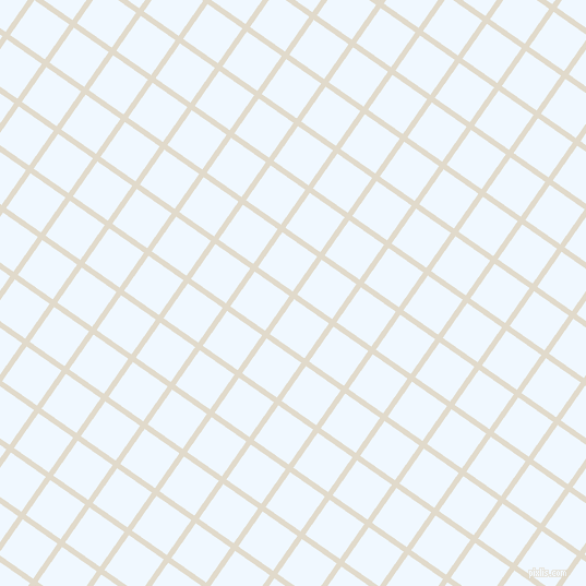 55/145 degree angle diagonal checkered chequered lines, 5 pixel line width, 39 pixel square size, Albescent White and Alice Blue plaid checkered seamless tileable