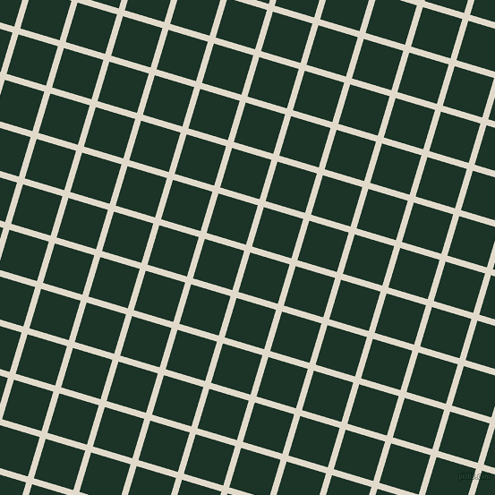 73/163 degree angle diagonal checkered chequered lines, 7 pixel lines width, 46 pixel square size, Albescent White and Cardin Green plaid checkered seamless tileable
