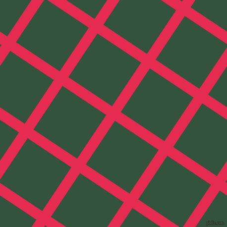 56/146 degree angle diagonal checkered chequered lines, 21 pixel lines width, 106 pixel square size, Amaranth and Goblin plaid checkered seamless tileable