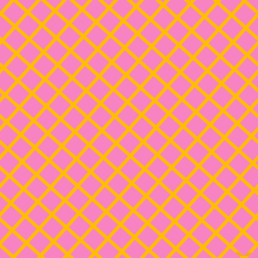 48/138 degree angle diagonal checkered chequered lines, 7 pixel lines width, 32 pixel square size, Amber and Tea Rose plaid checkered seamless tileable