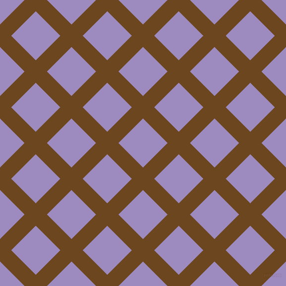 45/135 degree angle diagonal checkered chequered lines, 32 pixel line width, 70 pixel square size, Antique Brass and Cold Purple plaid checkered seamless tileable