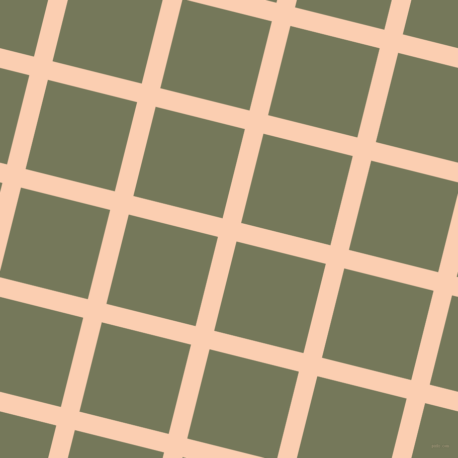 76/166 degree angle diagonal checkered chequered lines, 38 pixel lines width, 183 pixel square size, Apricot and Finch plaid checkered seamless tileable