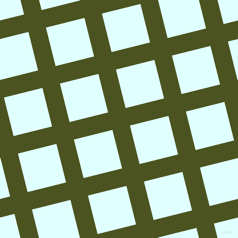 14/104 degree angle diagonal checkered chequered lines, 58 pixel line width, 128 pixel square size, Army green and Light Cyan plaid checkered seamless tileable