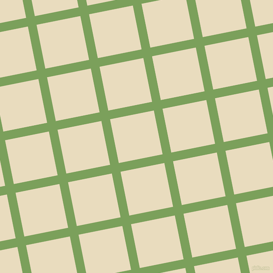 11/101 degree angle diagonal checkered chequered lines, 18 pixel lines width, 91 pixel square size, Asparagus and Double Pearl Lusta plaid checkered seamless tileable