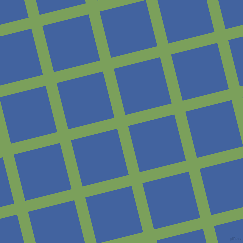 14/104 degree angle diagonal checkered chequered lines, 38 pixel lines width, 160 pixel square size, Asparagus and Mariner plaid checkered seamless tileable