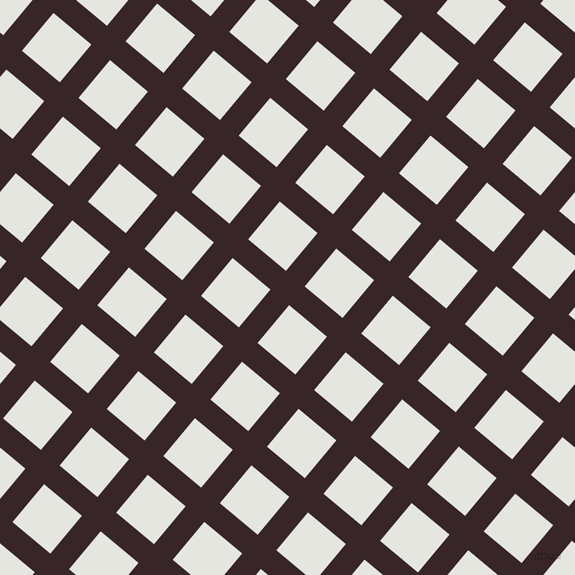 50/140 degree angle diagonal checkered chequered lines, 35 pixel line width, 71 pixel square size, Aubergine and Black Squeeze plaid checkered seamless tileable