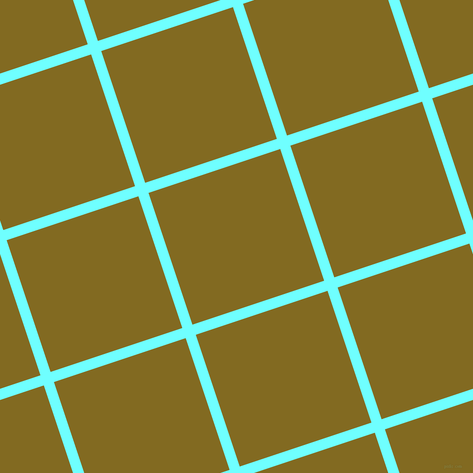 18/108 degree angle diagonal checkered chequered lines, 21 pixel line width, 273 pixel square size, Baby Blue and Yukon Gold plaid checkered seamless tileable