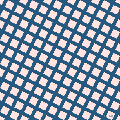 63/153 degree angle diagonal checkered chequered lines, 12 pixel lines width, 25 pixel square size, Bahama Blue and Misty Rose plaid checkered seamless tileable