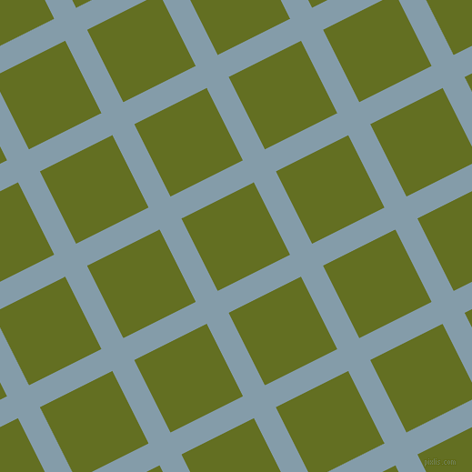 27/117 degree angle diagonal checkered chequered lines, 27 pixel line width, 89 pixel square size, Bali Hai and Fiji Green plaid checkered seamless tileable