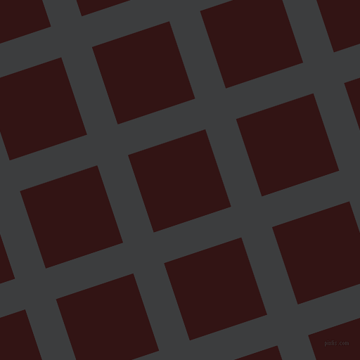 18/108 degree angle diagonal checkered chequered lines, 46 pixel line width, 116 pixel square sizeBaltic Sea and Seal Brown plaid checkered seamless tileable