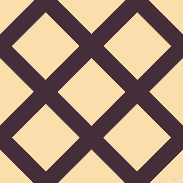 45/135 degree angle diagonal checkered chequered lines, 68 pixel lines width, 194 pixel square size, Barossa and Peach-Yellow plaid checkered seamless tileable