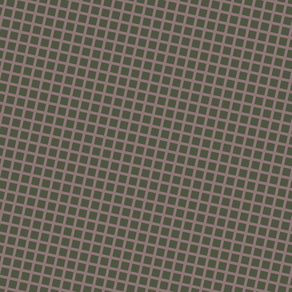 77/167 degree angle diagonal checkered chequered lines, 9 pixel lines width, 26 pixel square size, Bazaar and Lunar Green plaid checkered seamless tileable
