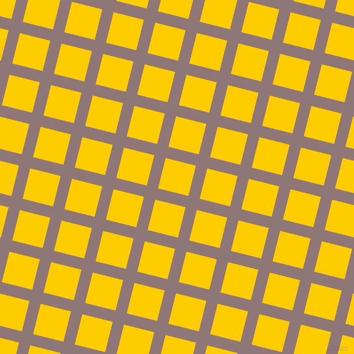 76/166 degree angle diagonal checkered chequered lines, 23 pixel lines width, 62 pixel square sizeBazaar and Tangerine Yellow plaid checkered seamless tileable