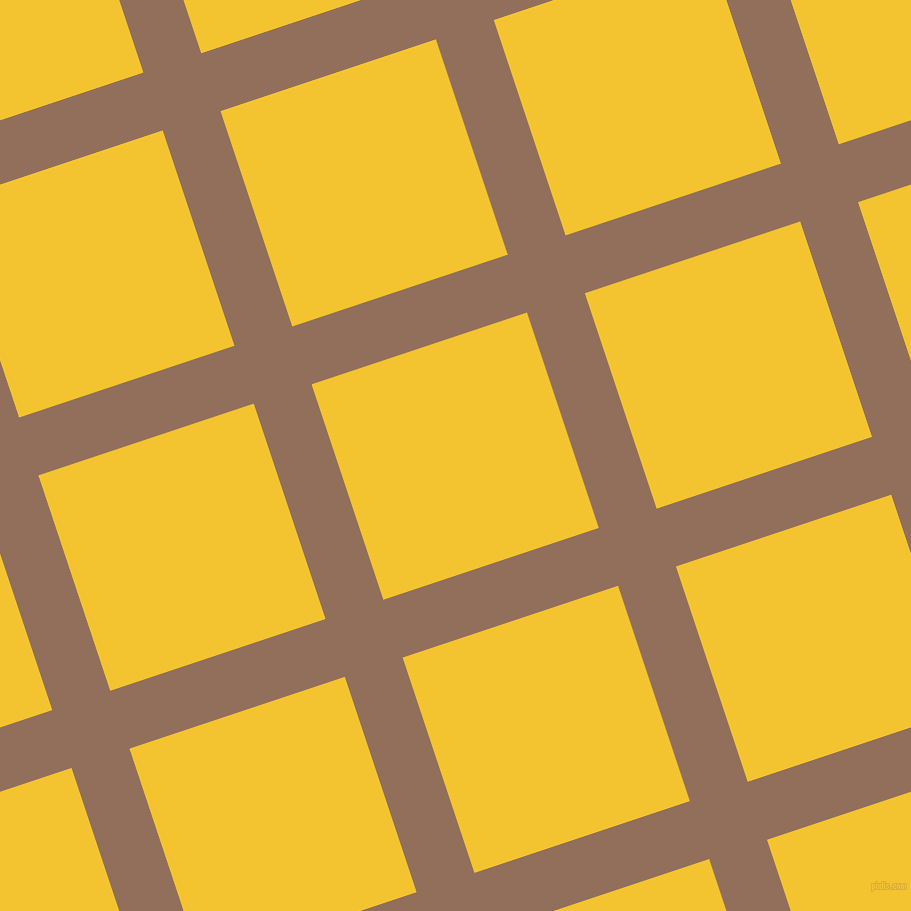 18/108 degree angle diagonal checkered chequered lines, 61 pixel line width, 227 pixel square size, Beaver and Saffron plaid checkered seamless tileable