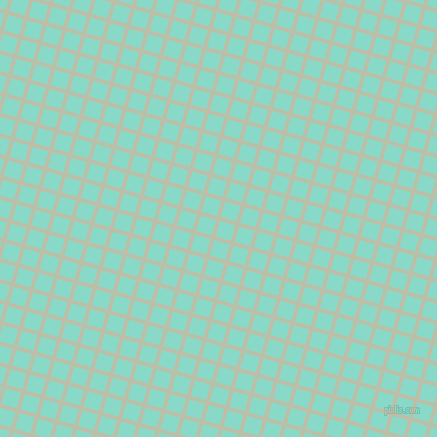 74/164 degree angle diagonal checkered chequered lines, 4 pixel lines width, 16 pixel square size, Beryl Green and Riptide plaid checkered seamless tileable