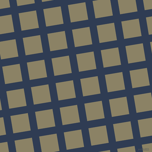 9/99 degree angle diagonal checkered chequered lines, 24 pixel line width, 58 pixel square size, Biscay and Granite Green plaid checkered seamless tileable