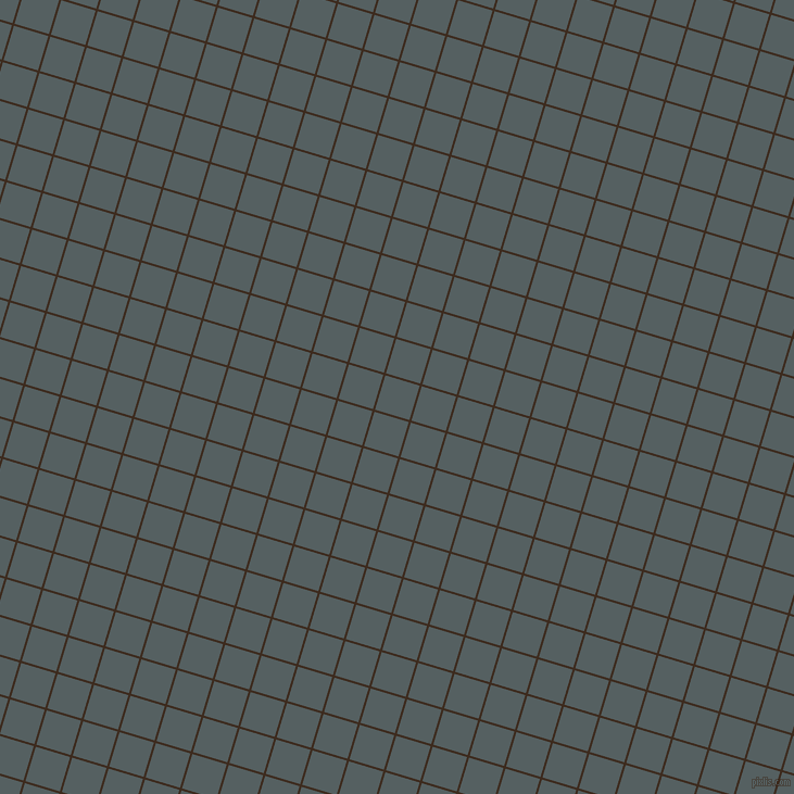 73/163 degree angle diagonal checkered chequered lines, 2 pixel line width, 33 pixel square size, Bistre and River Bed plaid checkered seamless tileable