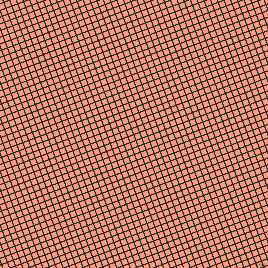 21/111 degree angle diagonal checkered chequered lines, 4 pixel lines width, 17 pixel square size, Black Bean and Vivid Tangerine plaid checkered seamless tileable