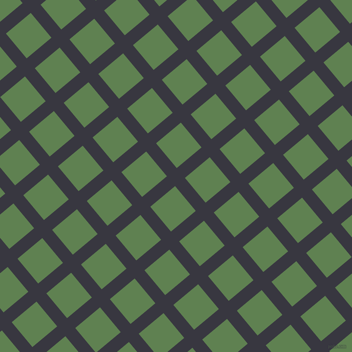 40/130 degree angle diagonal checkered chequered lines, 25 pixel lines width, 63 pixel square size, Black Marlin and Glade Green plaid checkered seamless tileable