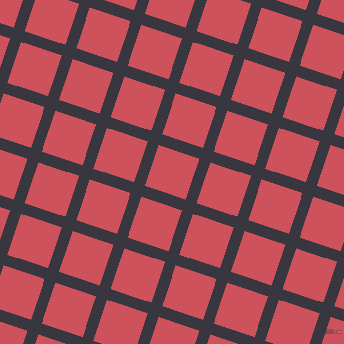 72/162 degree angle diagonal checkered chequered lines, 23 pixel line width, 87 pixel square size, Black Marlin and Mandy plaid checkered seamless tileable