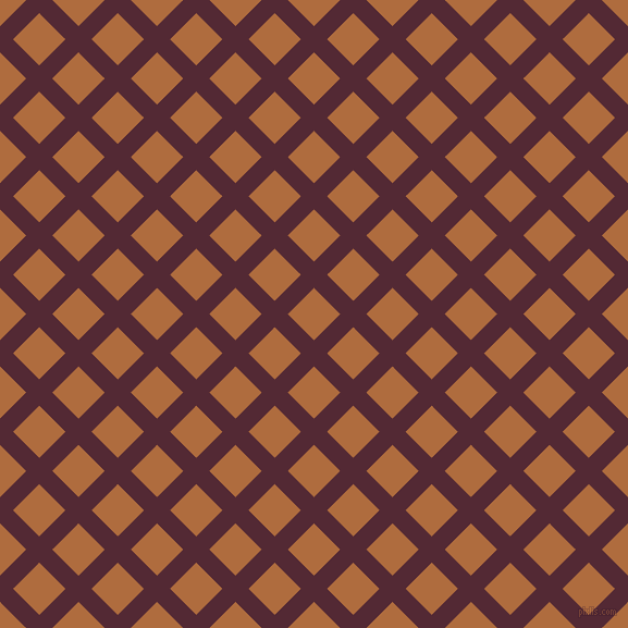 45/135 degree angle diagonal checkered chequered lines, 17 pixel lines width, 34 pixel square size, Black Rose and Bourbon plaid checkered seamless tileable