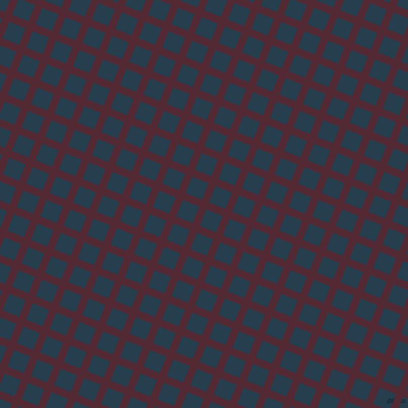 68/158 degree angle diagonal checkered chequered lines, 15 pixel lines width, 35 pixel square size, Black Rose and Nile Blue plaid checkered seamless tileable